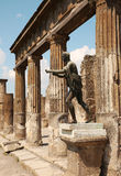 Statue Of Apollo In The Ruins Of Pompei, Italy Stock Photo
