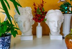 Statue of Apollo`s head. Man. Statue. Head. stock photos