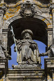 Statue of the Apostle James in the cathedral Stock Images