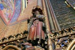 Statue of the Apostle, La Sainte Chapelle in Paris. France royalty free stock photos