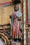 Statue of the Apostle, La Sainte Chapelle in Paris. France stock photos