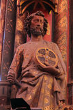 Statue of the Apostle, La Sainte Chapelle in Paris. France royalty free stock photography