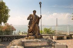 Statue of apostle Peter, Capernaum, sea of Galilee, Israel Royalty Free Stock Photography