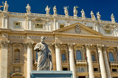 Statue of Apostle Peter, Vatican Royalty Free Stock Photography