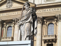 Statue Apostle with sword on St.Peter square in Vatican Stock Photo