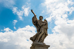 The statue of arc angel from Rome, Italy Stock Photos