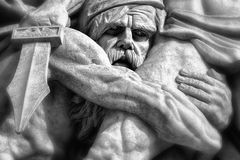 Statue on the Arc de Triomph. Located on the champs elysees Royalty Free Stock Image