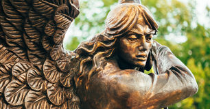 Statue Of Archangel Michael With Outstretched Stock Images