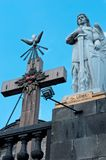 Statue of the Archangel Uriel in Mexico City Royalty Free Stock Photography