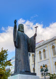 Statue of Archbishop of Greece Damaskinos, Athens Royalty Free Stock Photography
