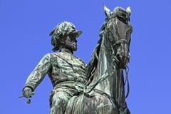 Statue of archduke Albrecht. Statue of field-marshal archduke Albrecht - Vienna, Austria Royalty Free Stock Images