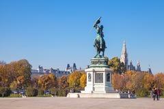 Statue of Archduke Charles on the Heldenplatz Stock Photo
