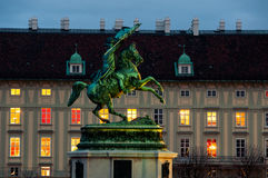 Statue of Archduke Charles in Vienna Stock Image