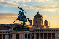Statue of Archduke Charles in Vienna Stock Photos
