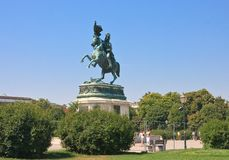 Statue of Archduke Karl-Ludwig-John. Vienna Stock Photo