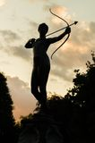 Statue of archer in Hyde Park Royalty Free Stock Photos
