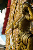 Statue of an Archer - Temple In Vientiane, Laos Stock Image