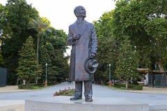 Architect Anibal González. Statue of architect Anibal González in the Maria Luisa park in Seville, spain Stock Photos