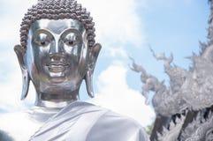 Statue argentée de Bouddha, Chiang Mai, Thaïlande Images libres de droits