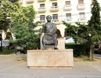 Statue of Aristotle, Aristotelous Square, Thessaloniki Stock Image