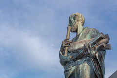 Statue of Aristotle a great greek philosopher Stock Photography