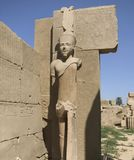 Statue around Precinct of Amun-Re Stock Photo
