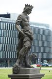 Statue. Art, city, street art, street decorations, interesting object, interesting place, head,Street art is visual art created in public locations, usually stock images