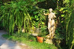 Statue art in the garden Royalty Free Stock Photo