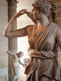 Statue of Artemis, the Louvre, Paris Royalty Free Stock Images