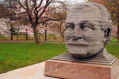 A statue of Arthur Fieldler, longtime conductor of the Boston Pops, on the Esplanade Royalty Free Stock Image