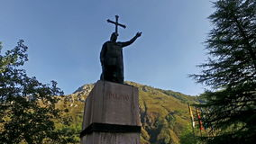The statue of the artificer of the Reconquista 15 stock video