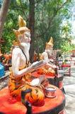 Statue ascétique au temple, Thaïlande photo stock