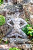 Statue ascétique au wat PO image libre de droits