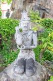 Statue ascétique au wat PO photo stock