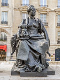 Statue of Asia in front of d`Orsay Museum Stock Images