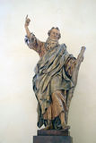 Statue in Assumption of Virgin Mary Church in Kutna Hora, Czech Republic Royalty Free Stock Image