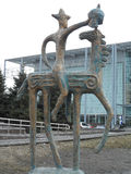 Statue in Astana. Astana, view on the statue, Kazakh national Stock Photography