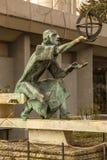 Statue of astronomer Nicolaus Copernicus. Statue of famous astronomer Nicolaus Copernicus, Varna, Bulgaria stock image