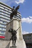 Statue of Ataturk on horse Stock Photo