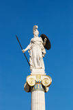 Statue of Athena in front of the Academy of Athens Stock Photography