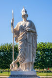 Statue of Athena in park of Peterhof. Statue of Athena in the Western Part of The Lower Park in the Peterhof State Museum Preserve Royalty Free Stock Photography
