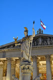 Statue of athena at vienna, austria Stock Images