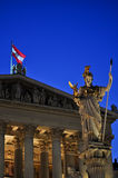 Statue of athena at vienna, austria Royalty Free Stock Image