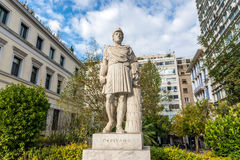 Statue in Athens. Pericles monument next to Ciy Hall in Athens Stock Images