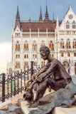 Statue of Atilla Jozsef in Budapest Royalty Free Stock Images