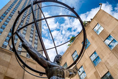 The Statue of Atlas in front of the Rockefeller Center in New York Stock Images