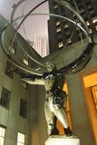 Statue of Atlas in New York City. stock photo