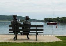 Statue au bord de mer de Baddeck Photo stock