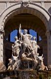 Statue au palais de Longchamp, Marseille images stock