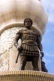 Statue auf Brunnen in Skopje, die Republik Mazedonien stockfotografie